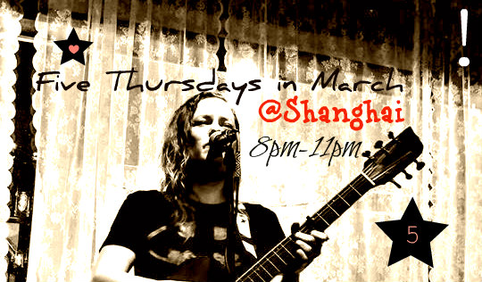 There's 5 Thursdays in March! and i'm playin all of em at Shangy! Also - check out my tour page for upcoming show dates :) -tara xo'z
